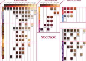 Подробная палитра цветов краски Матрикс SOCOLOR
