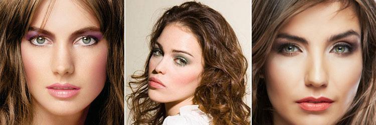 Фото макияжа шатенки с зелеными глазами