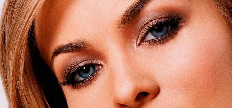 Веерная техника нанесения теней для вечернего макияжа