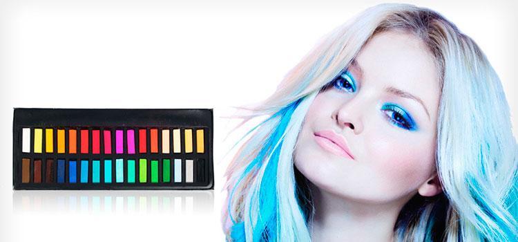 Мелки для волос: как красить волосы мелками