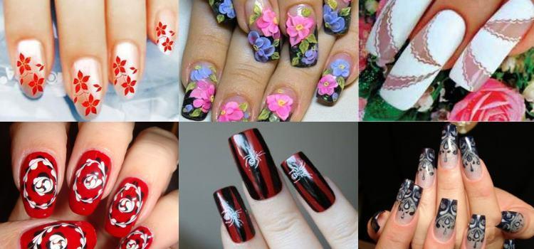 Варианты росписи ногтей