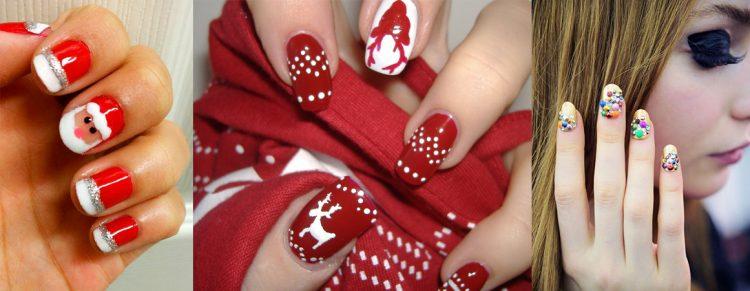 Идеи новогодних ногтей