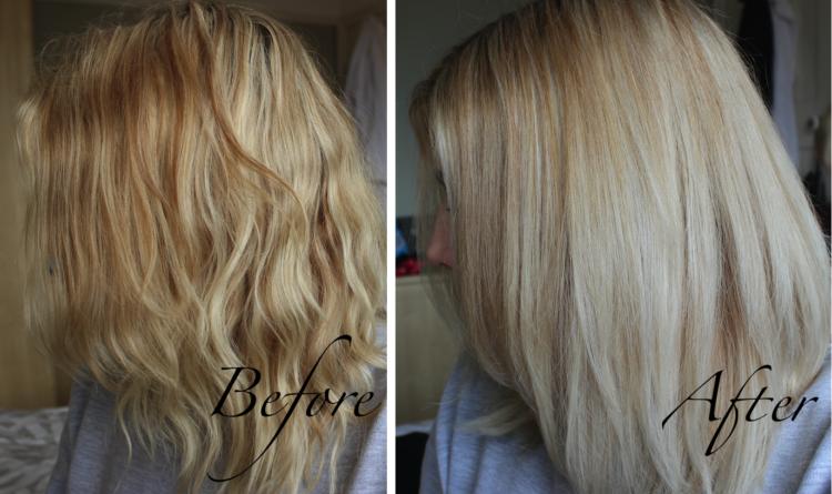 Блондинка после шампуня Лореаль