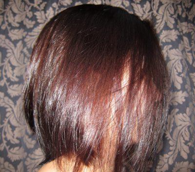 Волосы получаются темнее